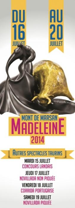 Affiche autres spectacles taurins madeleine 2014