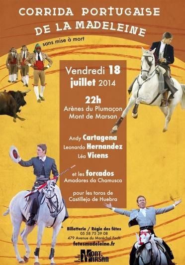 Affiche corrida portugaise