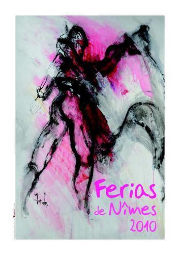 Affiche ferias pentecote vendanges nimes 2010