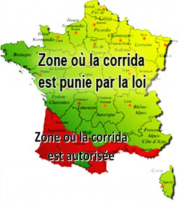 Zone taurine et zone anti corrida